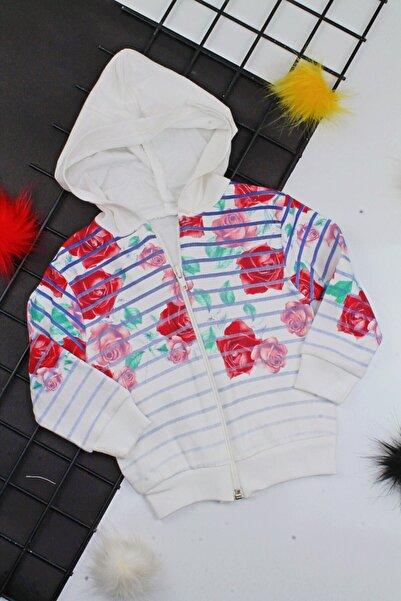 Dandini Kız Bebek Kapşonlu Hırka Ceket