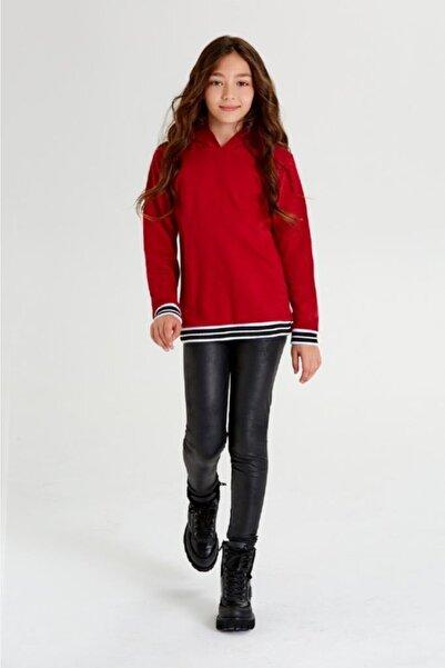 Wonder Kıds Wonder Kids Kız Çocuk Bordo Kapüşonlu Sweatshirt Mk20aw7041