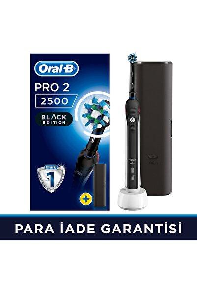Oral-B Pro 2500 Şarj Edilebilir Diş Fırçası Cross Action Siyah + Seyahat Kabı
