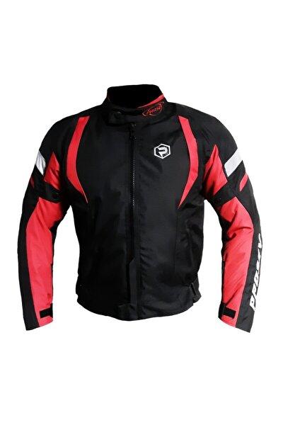 Prosev Malibu Dört Mevsim Motosiklet Montu Siyah Kırmızı