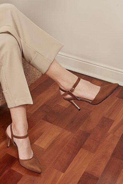 Mio Gusto Lucia Taba Bilek Bantlı Topuklu Ayakkabı