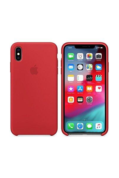 Teknoloji Adım Iphone Xs Max Kırmızı Silikon Kılıf