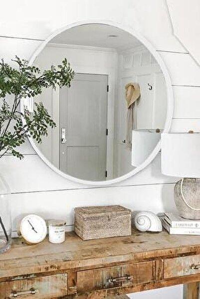 Lyn Dekoratif Konsol Aynası Beyaz