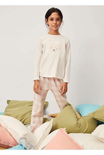 MANGO Kids Kabartma Desenli Uzun Pijama Takımı