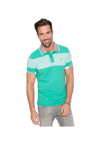 Camp David Erkek Polo Yaka T-shirt Yeşil