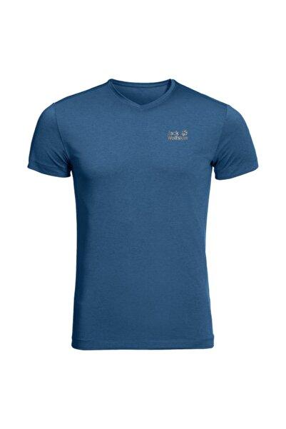 Jack Wolfskin Erkek Mavi Spor Tişört