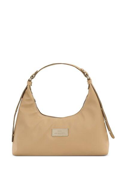 Housebags Kadın Krem Baguette Çanta 205