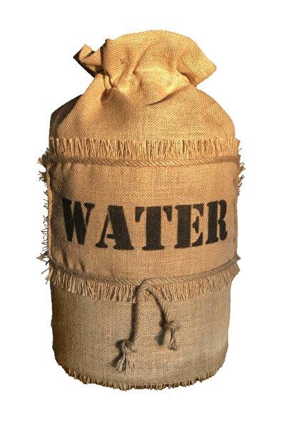 Halat Dekor Jüt Hasır Kumaş  Water Baskılı Damacana Kılıfı Örtü