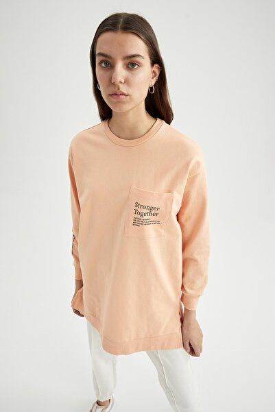 DeFacto Modest Relax Fit Cep Detaylı Sweat Tunik
