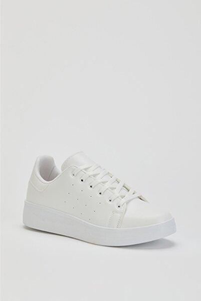 MUGGO Unisex Beyaz Sneaker Ayakkabı Svt21