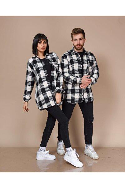kilsbrothers Unisex Siyah Kareli Hakiki Kalın Oduncu Gömlek
