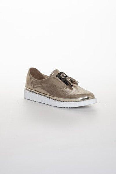 Kadın Gold Oxford Spor Ayakkabı Püsküllü05012020