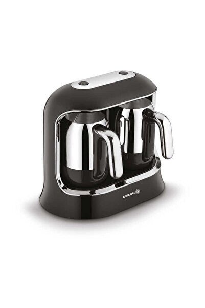 KORKMAZ Kahvekolik Twin Siyah/krom Otomatik Kahve Makinesi