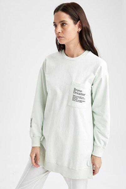 DeFacto Modest Kadın Relax Fit Cep Detaylı Sweat Tunik
