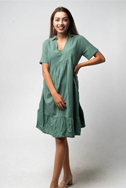 CNS V Yaka, Eteği Fırfırlı Elbise