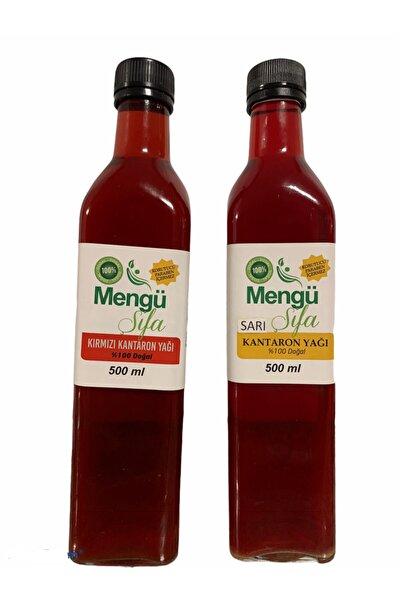 mengü şifa 500ml Sarı Kantaron 500ml Kırmızı Kantaron Yagı 2lı Paket Yeni Mahsül...
