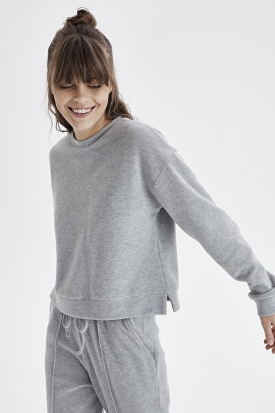 Chima Sıfır Yaka Sweatshirt