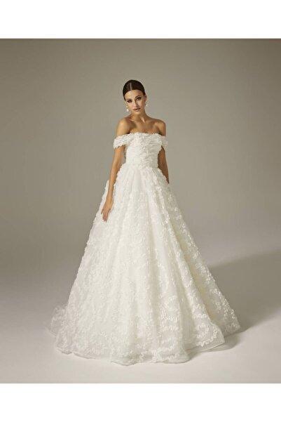 Mediha Cambaz Bridal Opa Özel Dalgalı Dikişli Üç Boyutlu Pin Up Tarzı Gelinlik