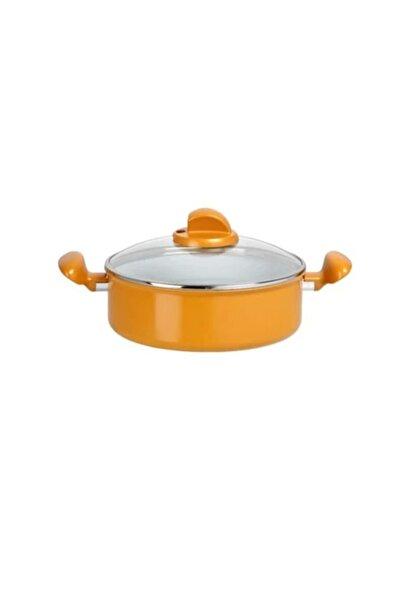 TEFAL Ceramıc Color Ind. Kısa Tencere 24 Cm (turuncu)