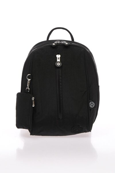 SMART BAGS Kadın Siyah Kumaş Sırt Çantası 1233