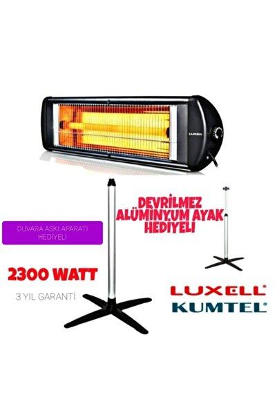 KUMTEL Luxell Ecoray 2300 W Ayaklı Infrared Isıtıcı Siyah Ufo Ayaklı Elektrikli Isıtıcı