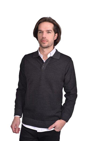 Cashmere Erkek Antrasit  Polo Yaka Tshirt