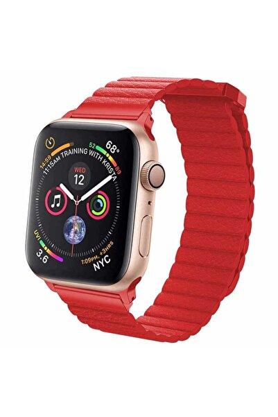 zore Apple Watch Silikon Kordon (Deri Lop) 42-44 Mm