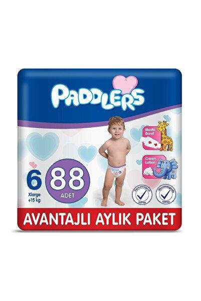Paddlers Bebek Bezi 6 Numara X-large 88 Adet (15+ Kg) Aylık Paket
