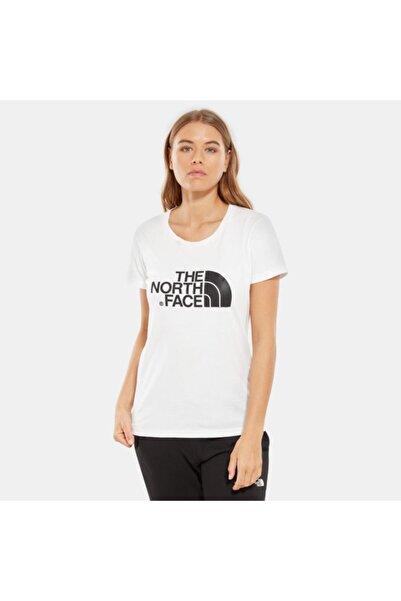 THE NORTH FACE Kadın Beyaz Easy Kısa Kollu Tişört