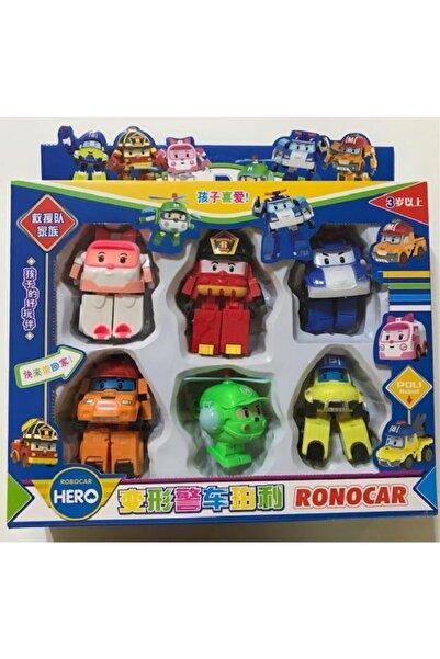 Robocar Poli Oyuncak 6 Lı Dönüşebilen Robot Oyuncak Araba Seti