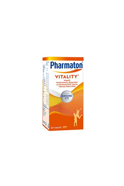 Pharmaton Vitality 30 Kapsül - Skt: 03/2022
