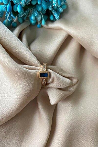 Madame Daisy Bijuteri Ithal Vip Serisi Parlament Mavisi Taş Earcuff (kıkırdak) Küpe