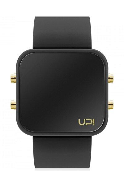 Up! Watch Upwatch Isim Yazılabilir Led Gold Black And Black Strap Unisex Kol Saati