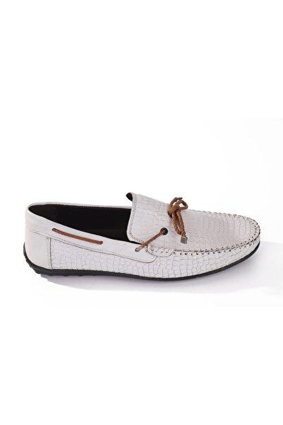 Hobby Beyaz Deri Erkek Günlük Ayakkabı 5003