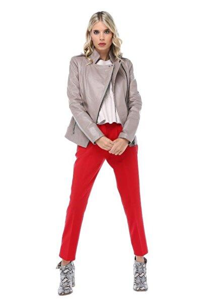 Modkofoni Kuşaklı Kırmızı Bilek Pantolon