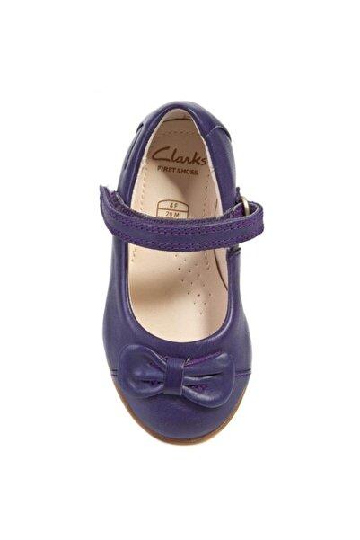CLARKS Kız Çocuk Mor 0-2 Yaş Ayakkabı