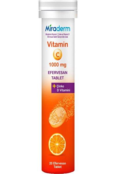 Miraderm C Vitamini 3 Lü Etki 1000 Mg 20 Efervesan