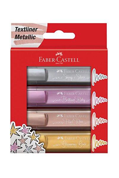Faber Castell Fosforlu Kalem Metalik Renkler 4'lü Set f154640