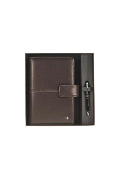 Scrikss Soft Deri Kahverengi Medium Ajanda Kutulu 20 X 14cm Dr3201-2