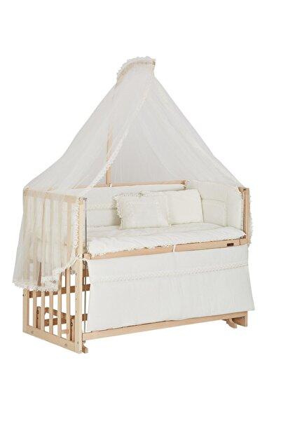 Baby Tech Extra Boyasız 60x120 Lüx Anne Yanı Beşik + Uyku Seti