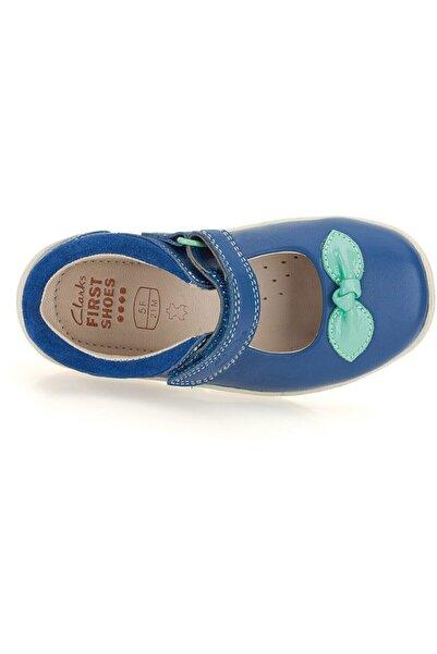 CLARKS Kız Çocuk 0-2 Yaş Ayakkabı Ortopedik 18-24 Softly Blue