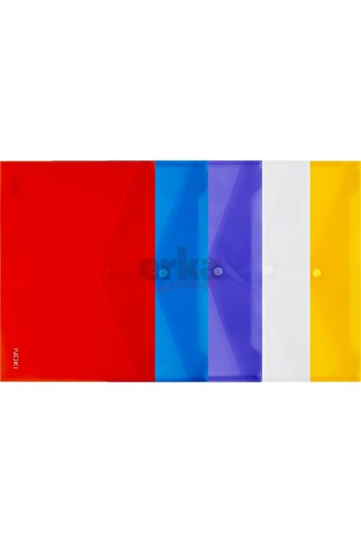 DERYA Noki Dosya Çıtçıtlı Evrak Zarfı A4 12 Adet Karışık Renk