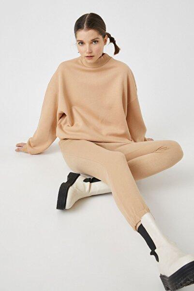 Koton Kadın Taş Sweatshirt 1YAL68474IK