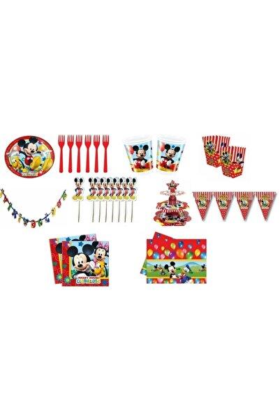 Mickey Mouse 24 Kişilik Doğum Günü Seti