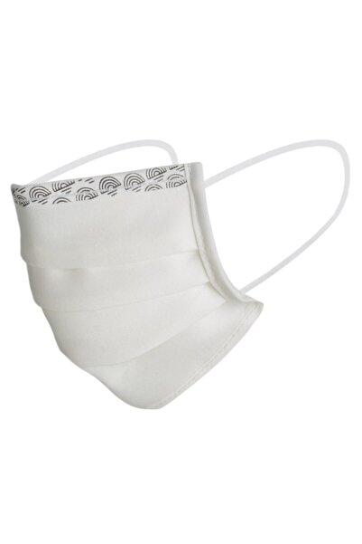 Maisonette Beyaz Yıkanabilir Pamuklu Yüz Maskesi 5'li Paket