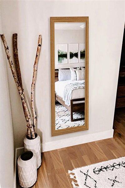 Hüma's Kahverengi Dekoratif Retro Boy Teak Ayna 100 x 38 cm
