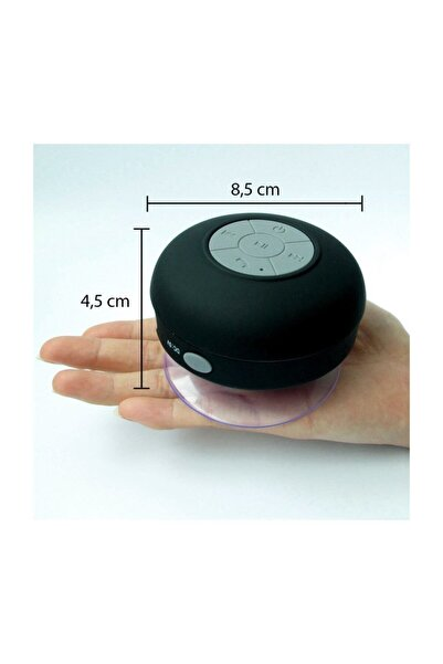 OEM Su Geçirmez Mini Bluetooth Duş Hoparlörü (Siyah)
