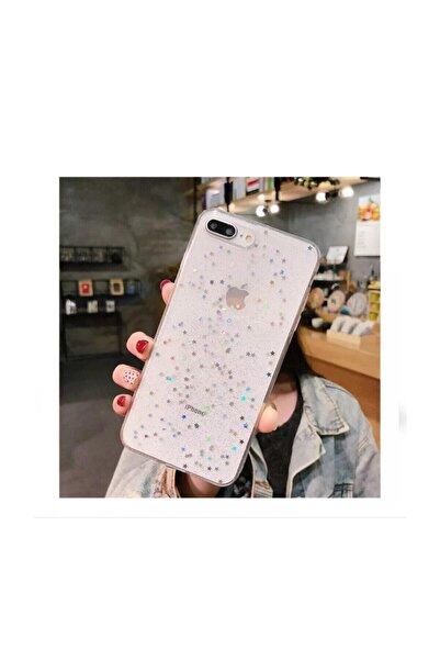 Kılıfsiparis Iphone 7 Plus 8 Plus Şeffaf Simli Silikon Telefon Kılıfı