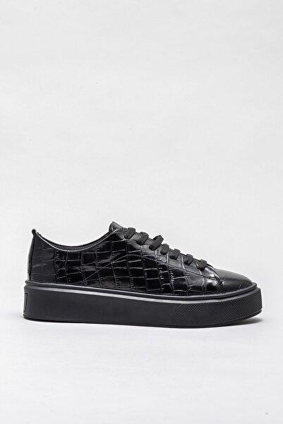 Elle Shoes Kadın Veda Sıyah Sneaker 20KTP9001