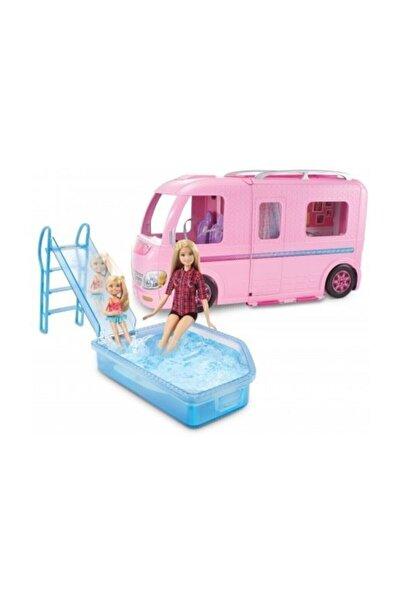Barbie Pembe Karavanı, Açılır-Kapanır Havuz ve Aksesuarları Oyun Seti FBR34-FBR34
